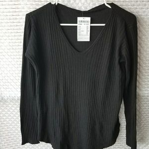 Brandy Melville Black Sweater NWT OS